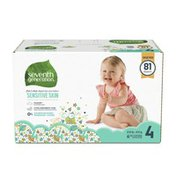Seventh Generation Baby Diapers Size 4, 22-37 Lbs