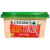 Cedar's Mediterranean Foods Tzatziki, Hot Pepper and Garlic, Mediterranean