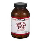 Twinlab Super Enzyme Caps Dietary Supplement Capsules - 200 CT