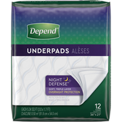 Depend Underpads (Formerly Bed Protectors) for Incontinence, Overnight Absorbency