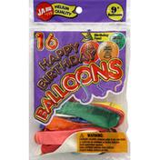 Ja-Ru Inc. Balloons, Happy Birthday, 9 Inch
