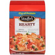 Stouffer's Satisfying Skillets Tender white meat chicken with rice & vegetables in a savory sauce. Savory Chicken and Rice