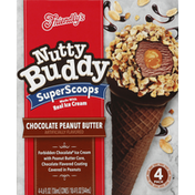 Friendly's Ice Cream, Chocolate Peanut Butter, Super Scoops, 4 Pack