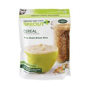 Sprouts Organic Baby Food Whole Grain Brown Rice Cereal for Infants & Toddlers
