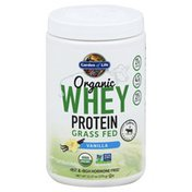 Garden of Life Whey Protein, Organic, Grass Fed, Vanilla