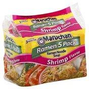 Maruchan Noodle Soup, Ramen, Shrimp Flavor, 5 Pack