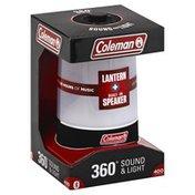 Coleman Lantern + Built-In Speaker, 360 Degrees Sound & Light