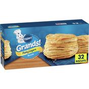 Pillsbury Grands! Flaky Layers Original Biscuits, 32 Count