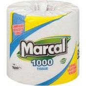 Marcal® 1000 1-Ply Single Roll Bath Tissue