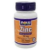 Now Zinc 50 Mg Immune Support, Supports Enzyme Functions Dietary Supplement Tablets