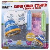 Rose Art Super Chalk Stamper, + Stencils & Sticks