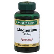 Nature's Bounty Magnesium, 400 mg, Rapid Release Softgels
