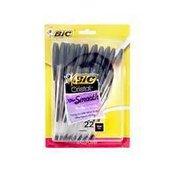 BiC Cristal Xtra Smooth Medium 1.0mm Black Ink Ballpoint Pens