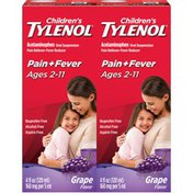 Children's Tylenol Susp Grape 2x4oz