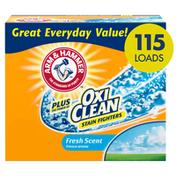Arm & Hammer Plus Oxiclean Powder Laundry Detergent, Fresh Scent, 115 Loads