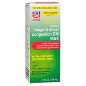 Rite Aid MAXIMUM STRENGTH ADULT tussin cough & chest congestion DM MAX cough suppressant expectorant