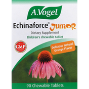 A. Vogel Echinaforce Junior, Chewable Tablets, Delicious Natural Orange Flavor