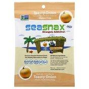 SeaSnax Seaweed Snack, Premium Roasted, Toasty Onion