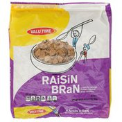 Valu Time Raisin Bran Crunchy Wheat Flakes Cereal With Raisins
