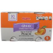 Hy-Vee Peach Fruit On The Bottom Greek Strained Nonfat Yogurt