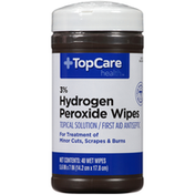 TopCare Hydrogen Peroxide 3% First Aid Antiseptic Topical Solution Wipes