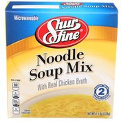 Shurfine Noodle Soup Mix With Real Chicken Broth