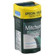Mitchum Power Gel, Anti-Perspirant & Deodorant, Unscented, 2 Pack, Tube