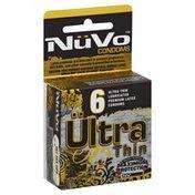 Nu Vo Condoms, Premium Latex, Lubricated, Ultra Thin