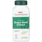 Hy-Vee Healthmarket, Standardized Grape Seed Extract Antioxidant Support Herbal Supplement Vegetarian Capsules