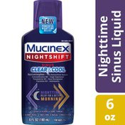 Mucinex® Nightshift Sinus Clear & Cool, With a Burst of Cooling Menthol