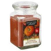 Enticing Aromas Candle, Scented, Pumpkin Apple Cider