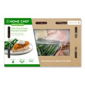 Home Chef Meal Kit One-Pan Crispy Deviled Chicken With Creamy Mustard Sauce And Green Beans