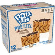 Kellogg's Pop-Tarts Pretzel Breakfast Toaster Pastries, Chocolate