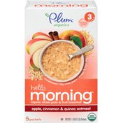 Plum Organics Hello Morning Apple Cinnamon & Quinoa Oatmeal Stage 3 Baby Food