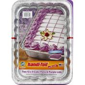 Handi-Foil Cake Pans & Purple Lids