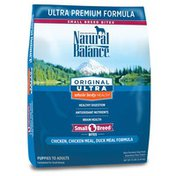 Natural Balance Dog Food, Ultra Premium Formula, Chicken, Chicken Meal, Duck Meal Formula, Small Breed Bites