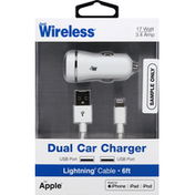 Just Wireless Car Charger, Dual