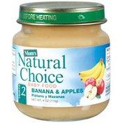 Mom's Natural Choice Banana & Apples Baby Food