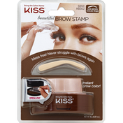 Kiss Brow Stamp, Beautiful, Delicate Shape, Dark Brown, KBS02