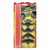 Mighty Moustache Fun Straws