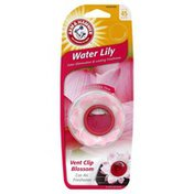 Arm & Hammer Air Freshener, Car, Vent Clip Blossom, Water Lily