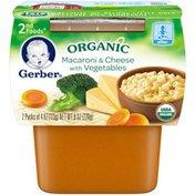 Gerber Organic 2 Nd Foods 2nd Foods Organic Macaroni & Cheese with Vegetables Organic Purees Veg/Pasta