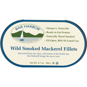 Bar Harbor Mackerel Fillets, Smoked, Wild