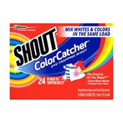 Shout Dye Trapping Sheets, In-Wash