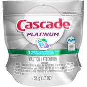 Cascade Platinum ActionPacs Dishwasher Detergent Fresh Scent 3 Ct  Dish Care