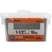 Paslode Finish Nails, Straight, Galvanized, 1-1/2 Inch