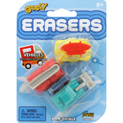 Googly Erasers, Vehicle, with Rolling Wheels