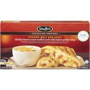 Stouffer's Chicken Bacon Ranch Stuffed Melt with Baked Potato Soup