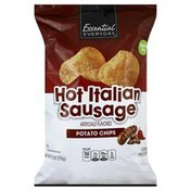 Essential Everyday Potato Chips, Flavored, Hot Italian Sausage