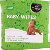 Best Choice Unscented 3X Refill Baby Wipes